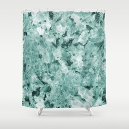 Mint Green Crystal Marble Shower Curtain