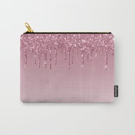 Pink Dripping Glitter Carry-All Pouch