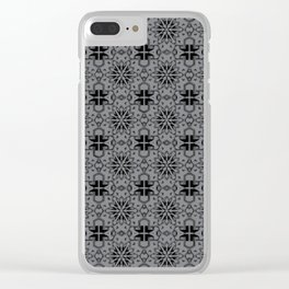 Sharkskin Star Geometric Clear iPhone Case