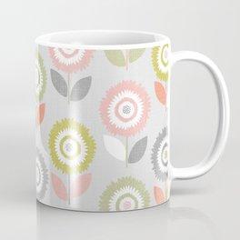 Soft Graphic Flower Pattern Coffee Mug
