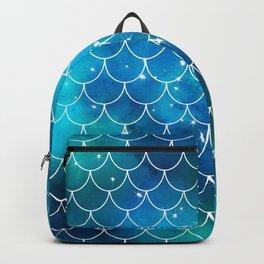 Mermaid Galaxy Scallop Pattern Backpack