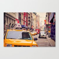 NYC Yellow Cab Canvas Print