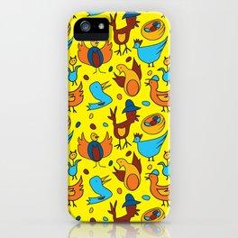 Crazy Birds iPhone Case