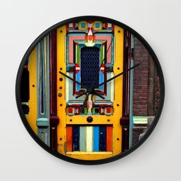 Multi-Colored Antique Doorway Photograph Wall Clock