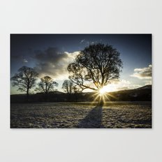 A Winters Sunset Canvas Print