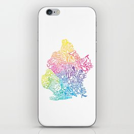 Typographic Brooklyn in Springtime iPhone Skin