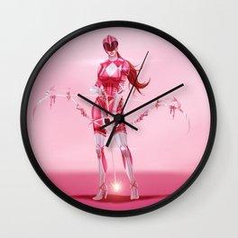 Pink Ranger Wall Clock