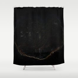 Psychedelic Black Tree of Life Shower Curtain