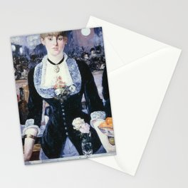 A BAR AT THE FOLIES-BERGERE - EDOUARD MANET  Stationery Cards