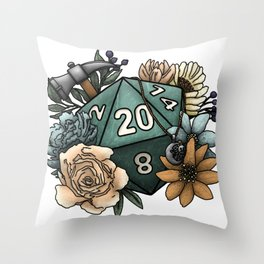 Cleric Class D20 - Tabletop Gaming Dice Throw Pillow
