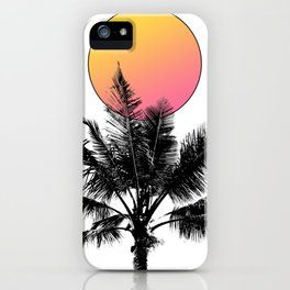 Palm Tree with a Sun iPhone Case