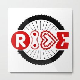 RIDE #biking#MTB Metal Print
