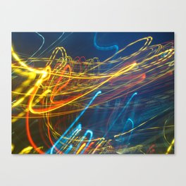 Abstract City Night - Light Painting Canvas Print