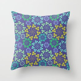 Fun Multicolored Whirligig Pattern Throw Pillow
