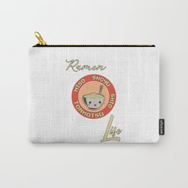 Ramen Life Japanese Noodles Vintage Retro Style Carry-All Pouch