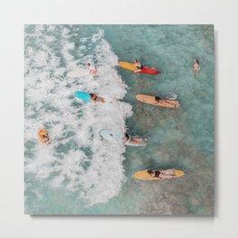 Surfing waves Metal Print