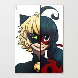 Ladybug et Chat Noir Canvas Print