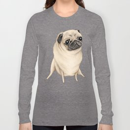 Sweet Fawn Pug Long Sleeve T-shirt