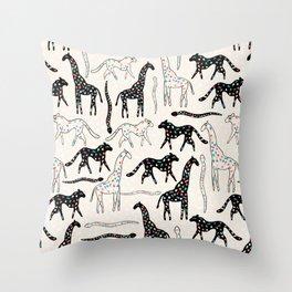 Safari Confetti Party Throw Pillow