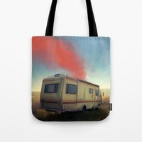 breaking bad Tote Bags featuring breaking bad by robotrake