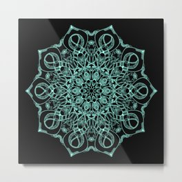 Mandala Project 235 | Seafoam Green Metal Print