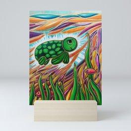 The Baby Turtle's Dream Mini Art Print
