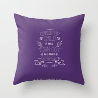 beauty and the beast Throw Pillows featuring Beauty and the Beast by Nikita Gill