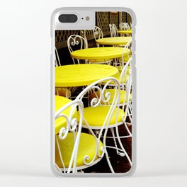 Outdoor Cafe Clear iPhone Case