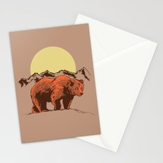 Bear and mountains Stationery Cards