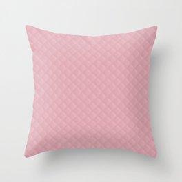 Valentines Bride Soft Bubblegum Pink Stitched Quilt Throw Pillow