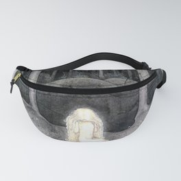 She is Looking For Her Heart By John Bauer Fanny Pack