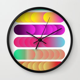 Gradient Snakes Wall Clock