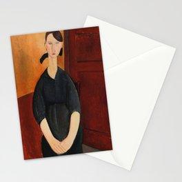 Amedeo Modigliani - Portrait of Paulette Jourdain.jpg Stationery Cards