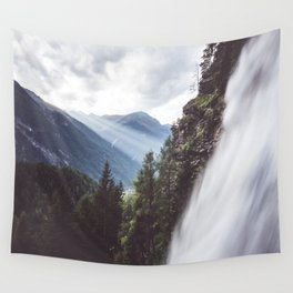 Behind Stuibenfall - Landscape and Nature Photography Wall Tapestry