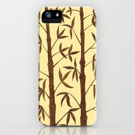 Gold Bamboo Trees iPhone Case