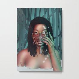 CyberGirl PopArt - Facelift Metal Print