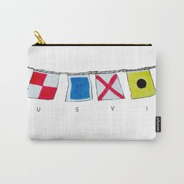 USVI nautical flags Carry-All Pouch
