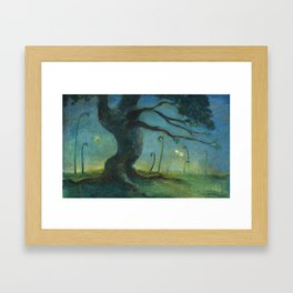 A Tree in the Morning Framed Art Print