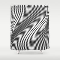 Bold Minimal Lines Shower Curtain
