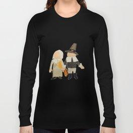 Thanksgiving Pilgrim Toddler Girl and Boy Couple Long Sleeve T-shirt