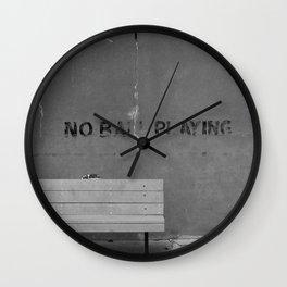 No Ball Playing Wall Clock