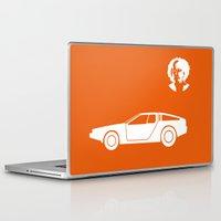 delorean Laptop & iPad Skins featuring DeLorean DMC-12 by Clemens Hellmund