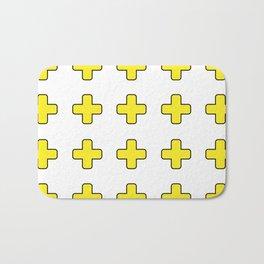 Yellow Crosses Bath Mat