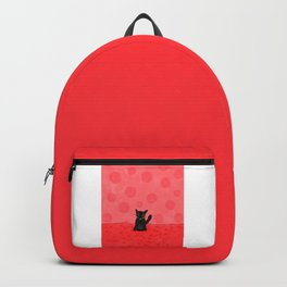 Red Fuzz Kitty Backpack