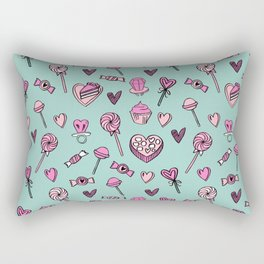 Valentines candy hearts chocolates love gifts for sweetheart Rectangular Pillow