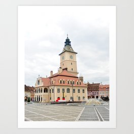 brasov city romania history museum landmark architecture Art Print
