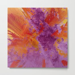 Abstract Purple and Orange 819 Metal Print