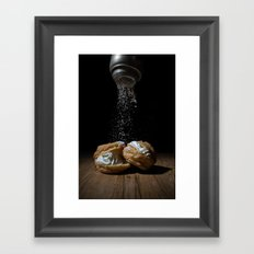 Cream Puff Framed Art Print