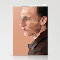 tom hiddleston Stationery Cards featuring Tom Hiddleston - Low Poly by khitkhat