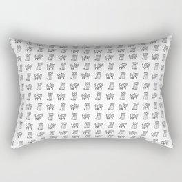 Geometrical Kitty Partern Rectangular Pillow